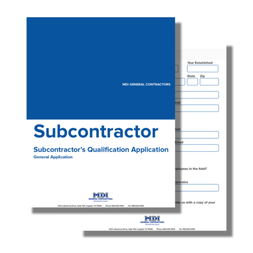 Subcontractor Page 1